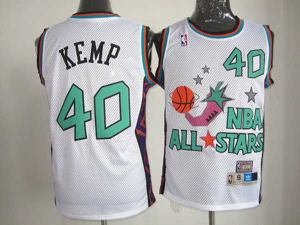 nba 1995 all star 40 kemp white