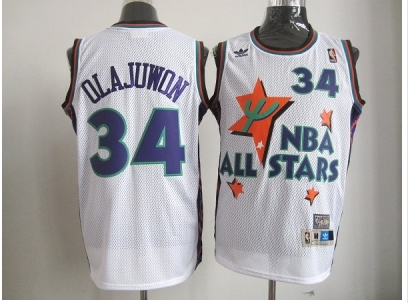nba 1995 all star #34 olajuwon white