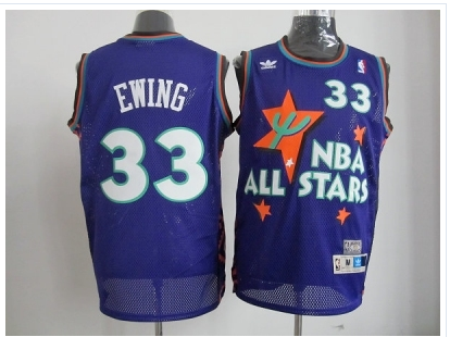 nba 95 all star #33 ewing purple