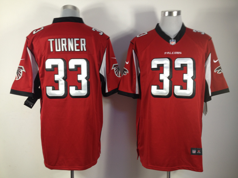 Nike Cheap NFL Falcons 33 Michael Turner Red Game Jersey