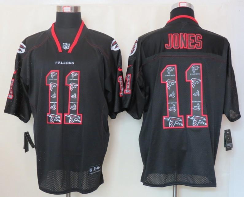 NEW Nike Atlanta Falcons 11 Jones Lights Out Black Elite Jerseys