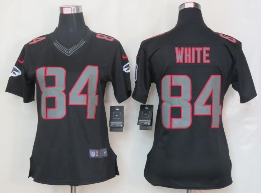Womens Nike Atlanta Falcons 84 White Impact Limited Black Jerseys