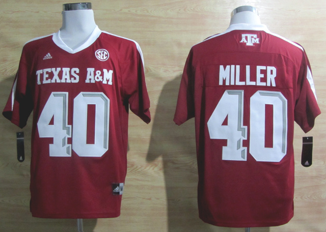 Addidas Texas A&M Aggies Von Miller 40 Football Authentic Techfit NCAA Jerseys - Maroon