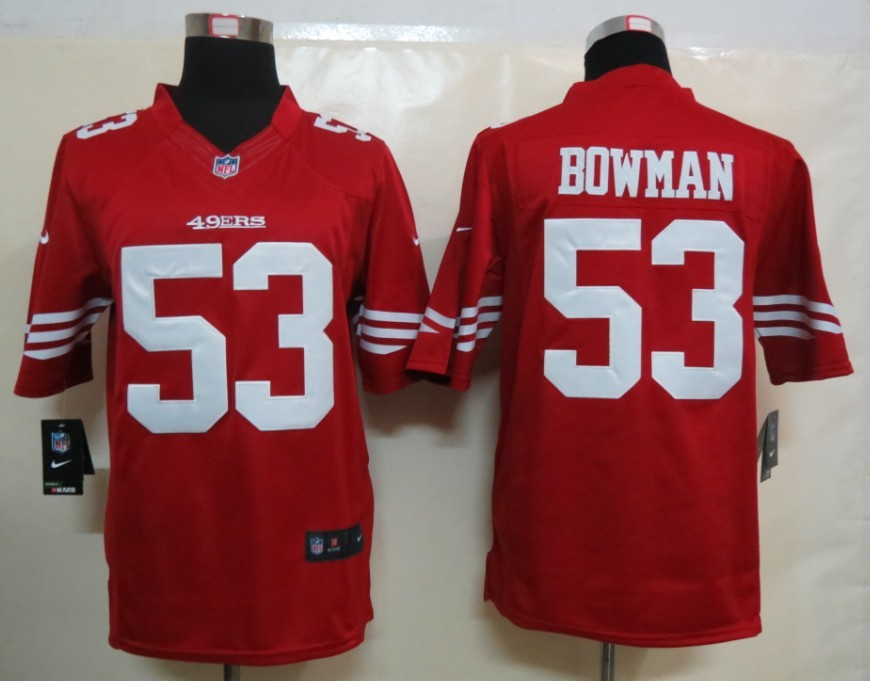 Nike San Francisco 49ers 53 Bowman Red Limited Jersey