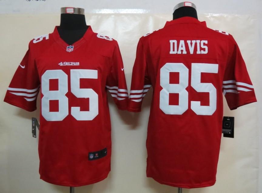 Nike San Francisco 49ers 85 Davis Red Limited Jersey