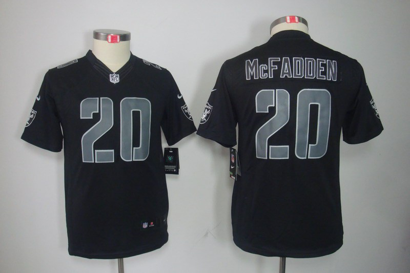 Oakland Raiders 20 Darren McFadden YOUTH Nike Impact Limited Black Jerseys