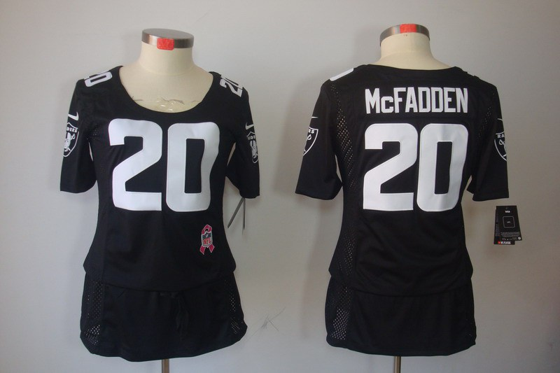 Okaland Raiders 20 Mcfadden Women's Nike breast Cancer Awareness ELITE Jerseys