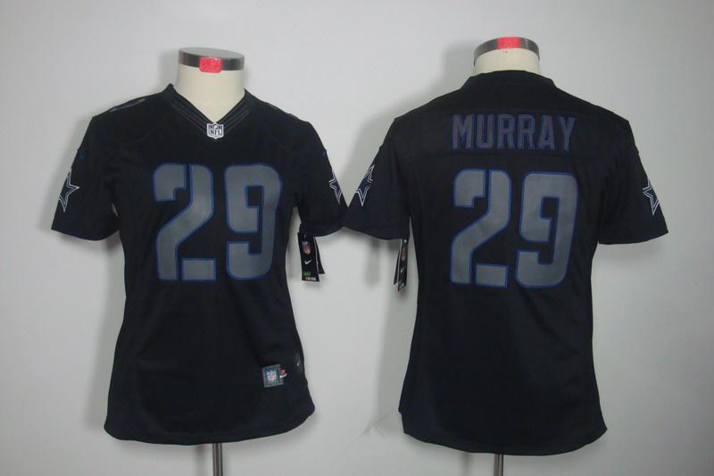Dallas Cowboys 29 Murray Women's Nike Impact Limited Black Jerseys