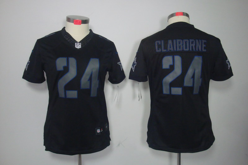 Dallas cowboys 24 Morris Claiborne Women's Nike Impact Limited Black Jerseys