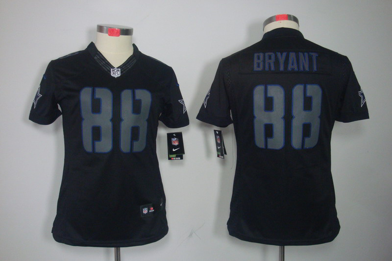 Dallas cowboys 88 bryant Women's Nike Impact Limited Black Jerseys