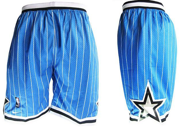 Mitchell and Ness Orlando Magic Stitched Blue Shorts