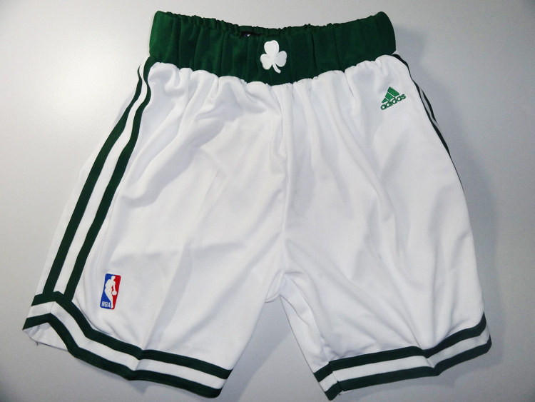 Boston Celtics white shorts