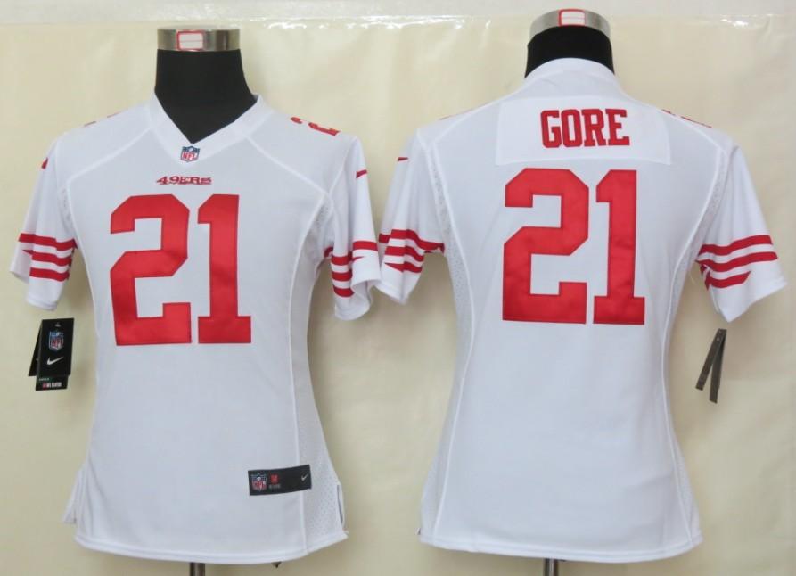 Womens Nike San Francisco 49ers 21 Gore White Elite Jersey