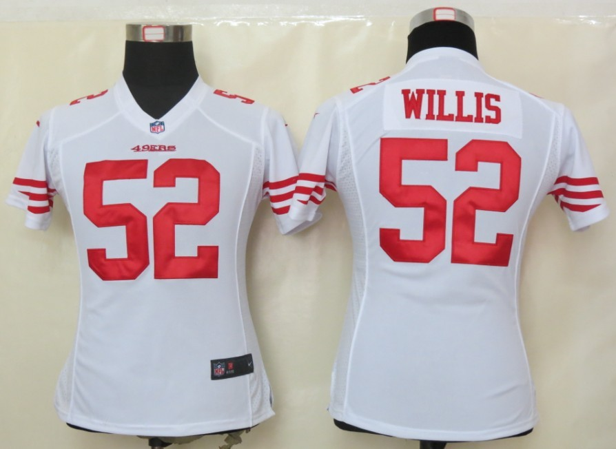 Womens Nike San Francisco 49ers 52 Willis White Elite Jersey