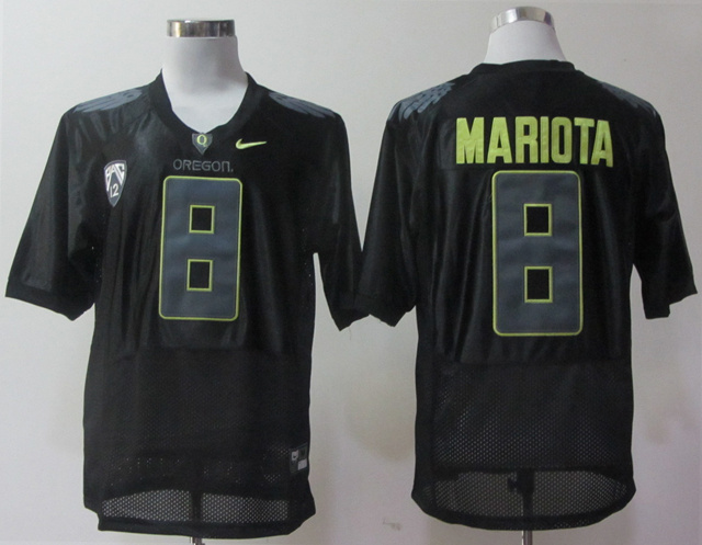 NCAA Oregon Ducks 8 Mariota black Jerseys