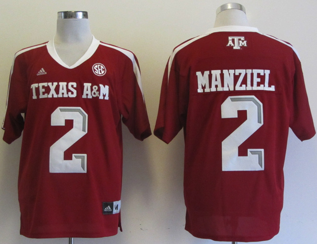 NCAA Texas AM Aggies 2 Manziel red Jerseys