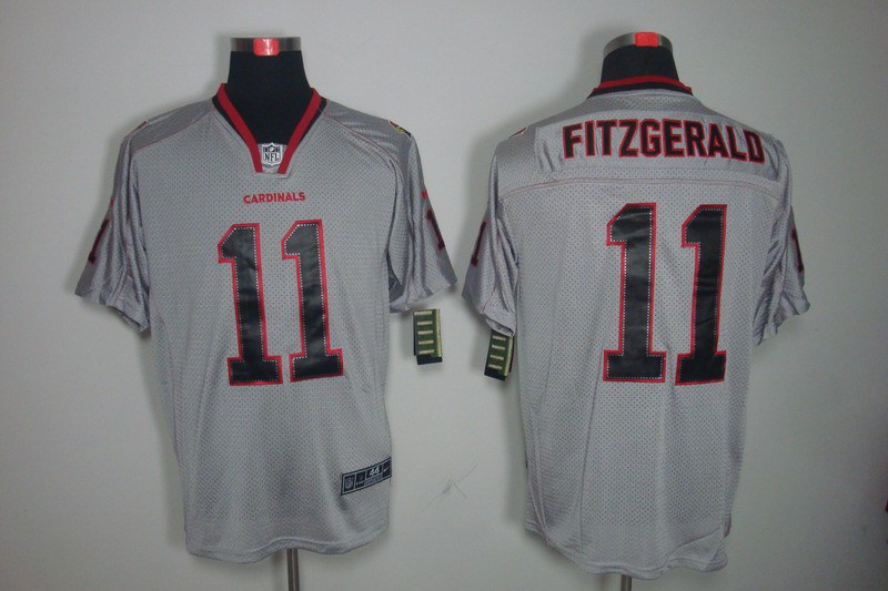 Arizona Cardicals 11 Fitzgerald Nike Lights Out Grey Elite Jerseys