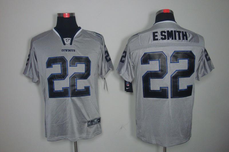 Dallas cowboys 22 E.smith Nike Lights Out Grey Elite Jerseys