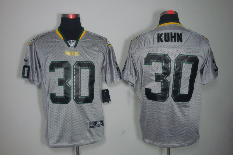 Green Bay Packers 30 Kuhn Nike Lights Out Grey Elite Jerseys