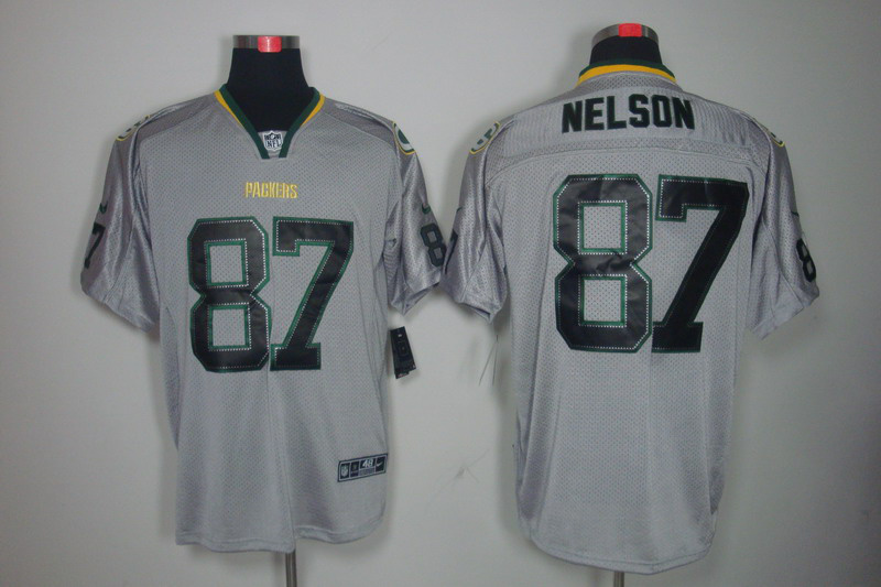 Green Bay Packers 87 Nelson Nike Lights Out Grey Elite Jerseys