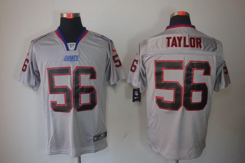 New York Giants 56 Taylor Nike Lights Out Grey Elite Jerseys