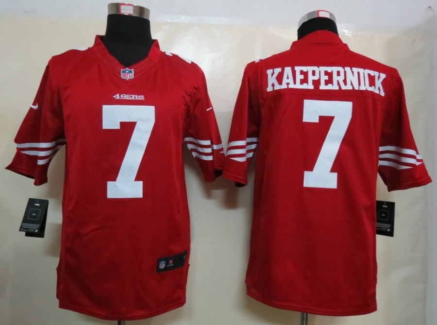 San Francisco 49ers 7 Kaepernick Nike Red Limited Jersey