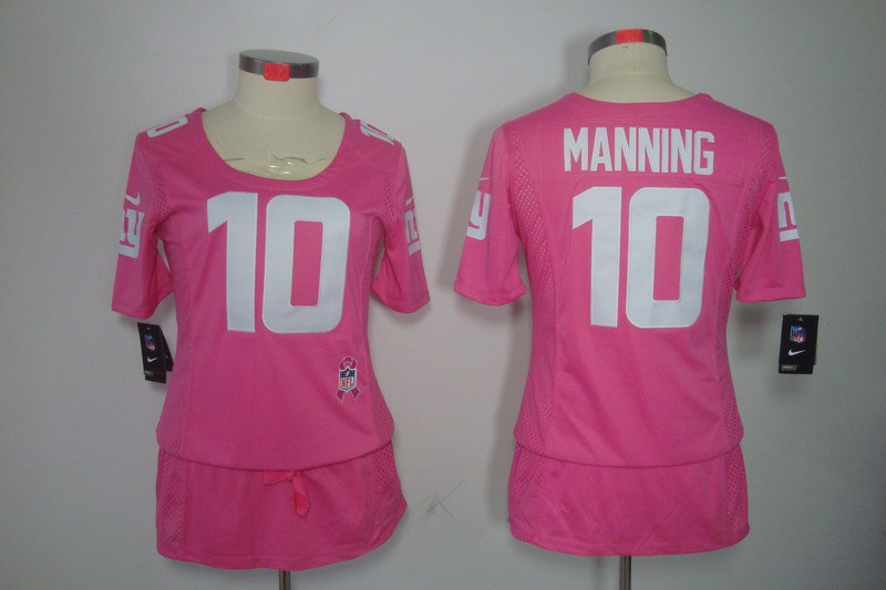 Womens New York Giants 10 Manning Nike Elite breast Cancer Awareness pink Jersey