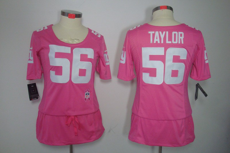 Womens New York Giants 56 Taylor Nike Elite breast Cancer Awareness pink Jersey