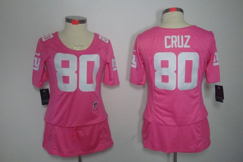 Womens New York Giants 80 Cruz Nike Elite breast Cancer Awareness pink Jersey