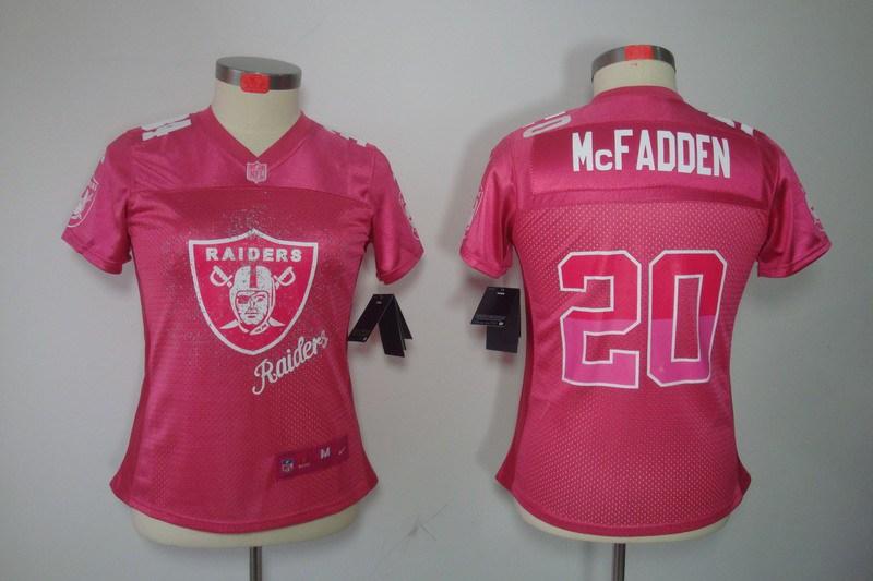 Womens Oakland Raiders 20 Darren McFadden Pink Jerseys