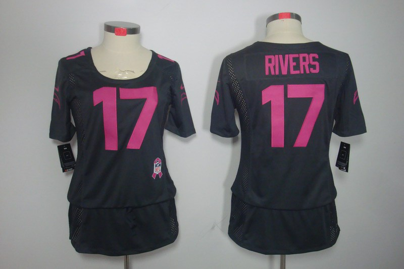 Womens San Diego Charger 17 Rivers Nike Elite breast Cancer Awareness grey Jersey