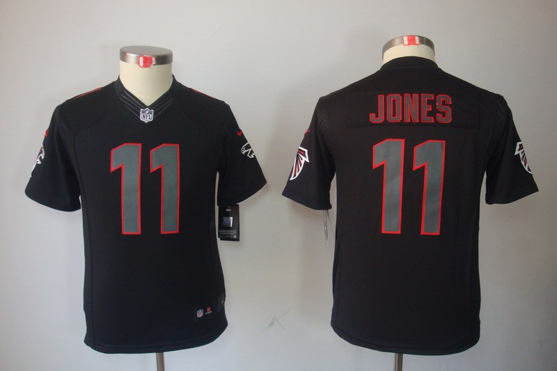 Atlanta Falcons 11 Jones Nike Youth Impact Limited Black Jersey