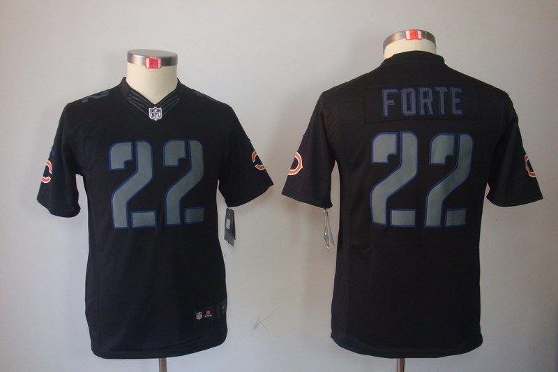 Chicago Bears 22 Forte Nike Youth Impact Limited Black Jersey
