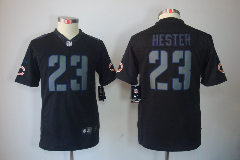Chicago Bears 23 Hester Nike Youth Impact Limited Black Jersey