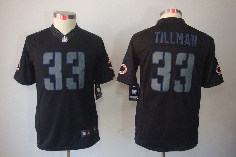 Chicago Bears 33 Tillman Nike Youth Impact Limited Black Jersey