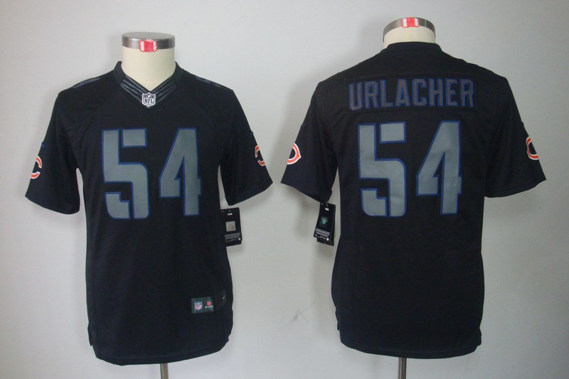 Chicago Bears 54 Urlacher Nike Youth Impact Limited Black Jersey