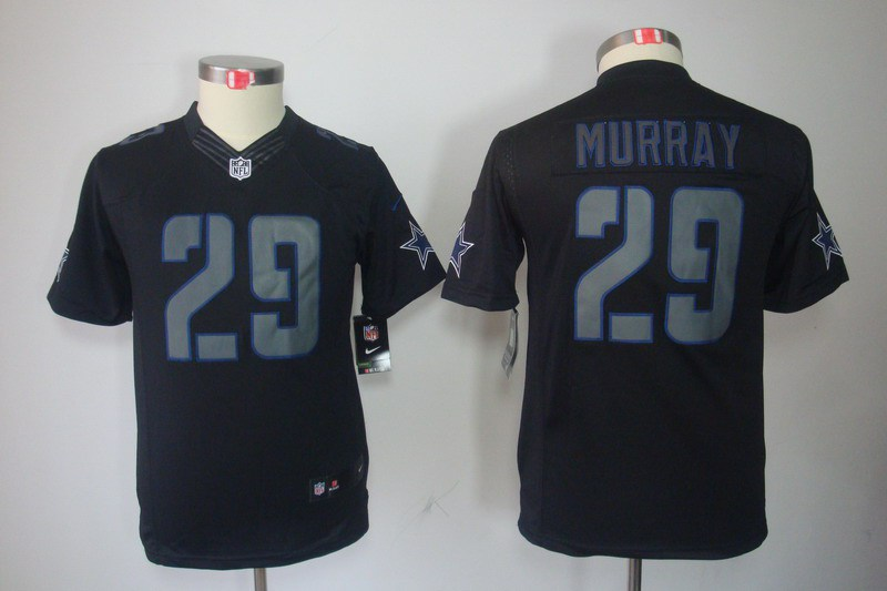 Dallas cowboys 29 Murray Nike Youth Impact Limited Black Jersey