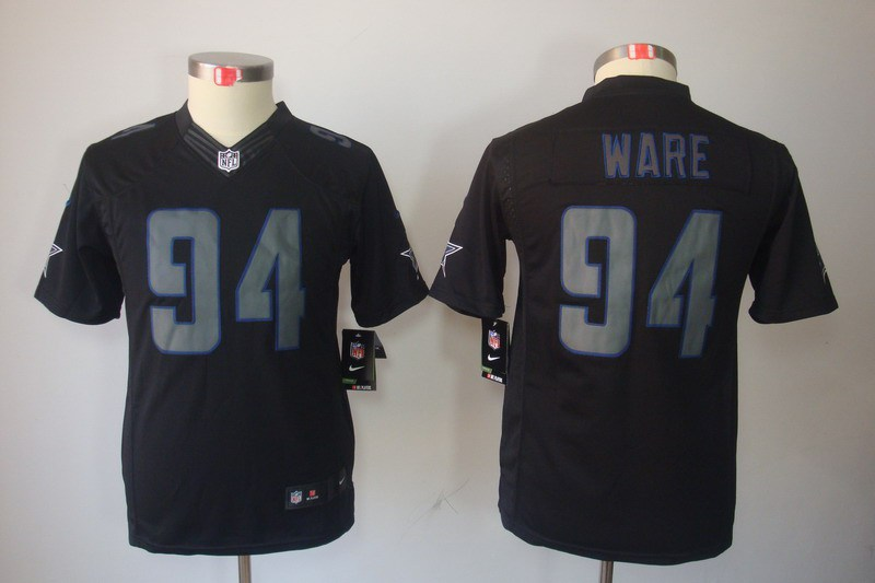 Dallas cowboys 94 Ware Nike Youth Impact Limited Black Jersey