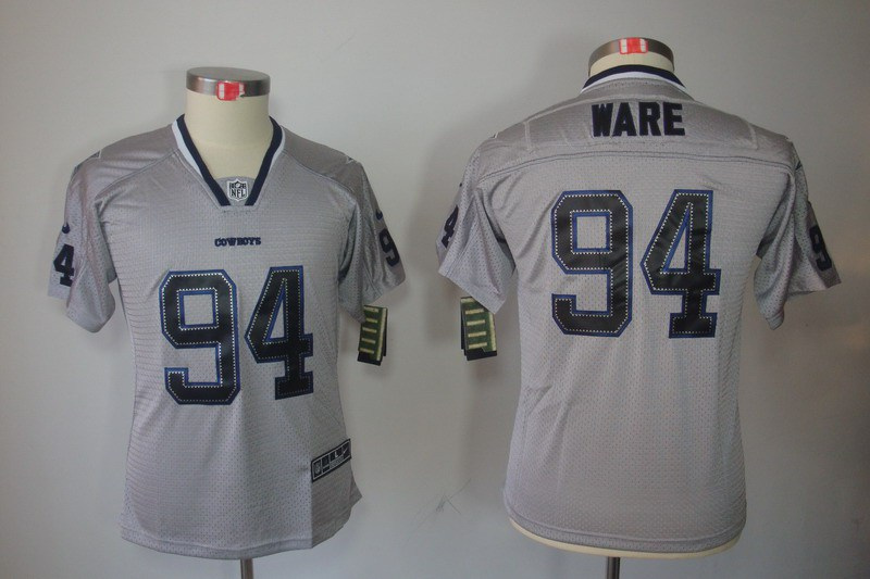Dallas cowboys 94 Ware Nike Youth Lights Out Grey Elite Jerseys