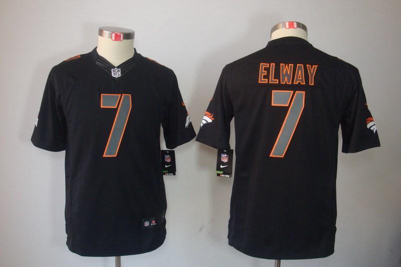 Denver Broncos 7 Elway Nike Youth Impact Limited Black Jersey