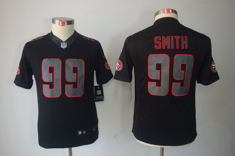 San Francisco 49ers 99 Smith Nike Youth Impact Limited Black Jersey