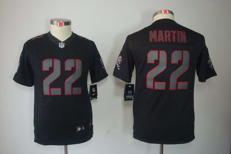 Tampa Bay Buccaneers 22 Martin Nike Youth Impact Limited Black Jersey