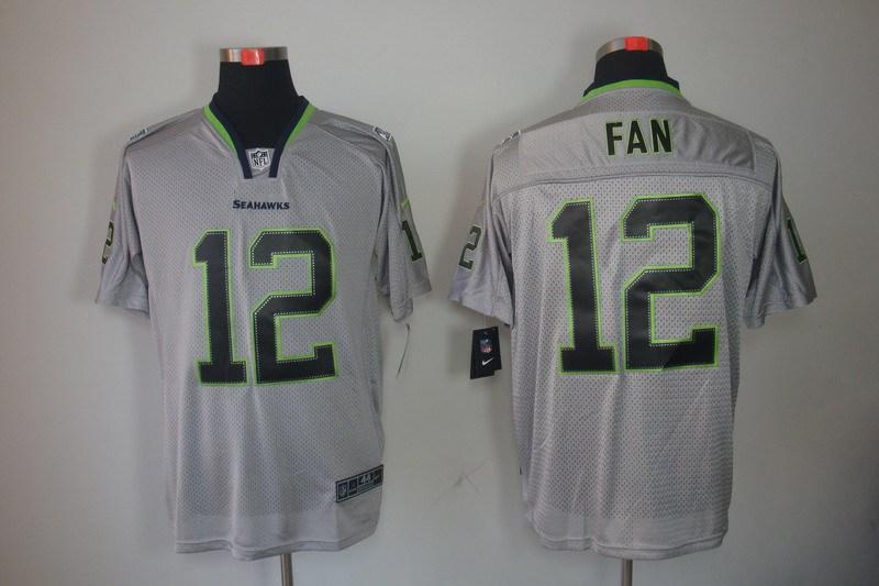 Seattle Seahawks 12 Fan Nike Lights Out Grey Elite Jerseys
