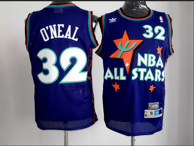 nba 1995 all star # 32 Shaquille O Neal purple