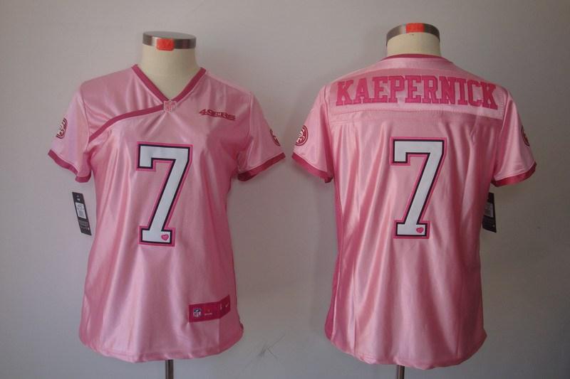Womens San Francisco 49ers 7 Kaepernick Nike Love Pink Elite Jerseys