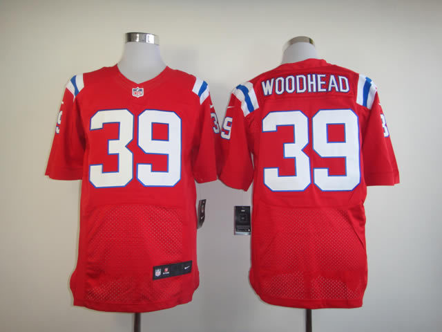 New England Patriots 39 Woodhead red Nike Elite Jerseys