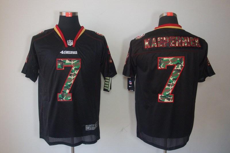 San Francisco 49ers 7 Kaepernick Nike Camo Fashion Elite Jerseys