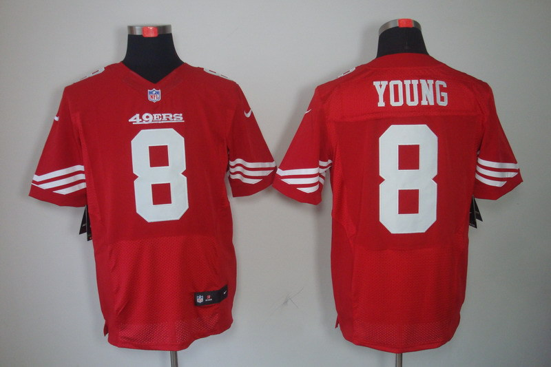 San Francisco 49ers 8 Young red Nike Elite Jerseys