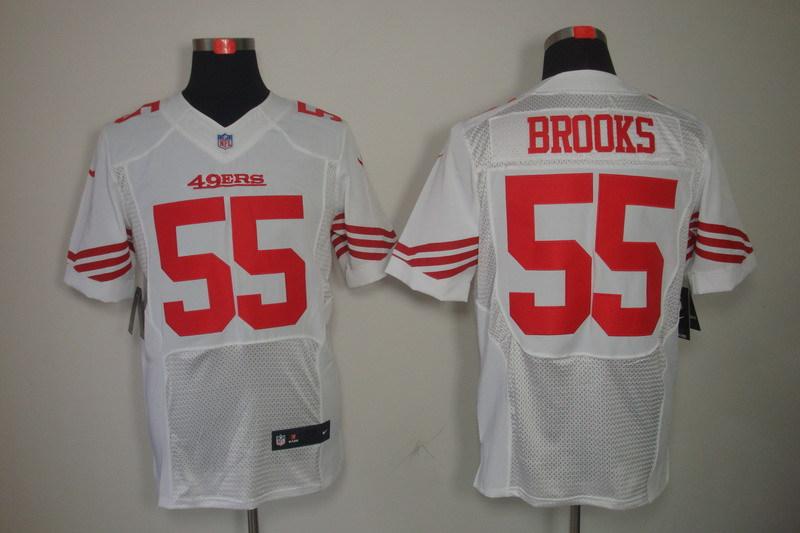 San Francisco 49ers 55 Brooks whtie Nike Elite Jerseys