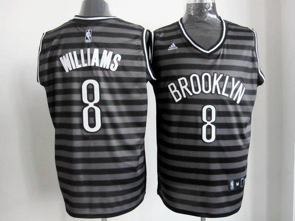 NBA Brooklyn Nets 8 Deron Williams Groove fashion Swingman jersey